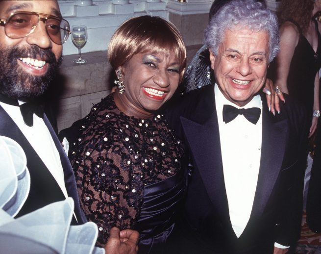La cantante cubana Celia Cruz y el rey del jazz Tito Puente.