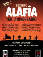 Sexteto Alafia, Primer Aniversario